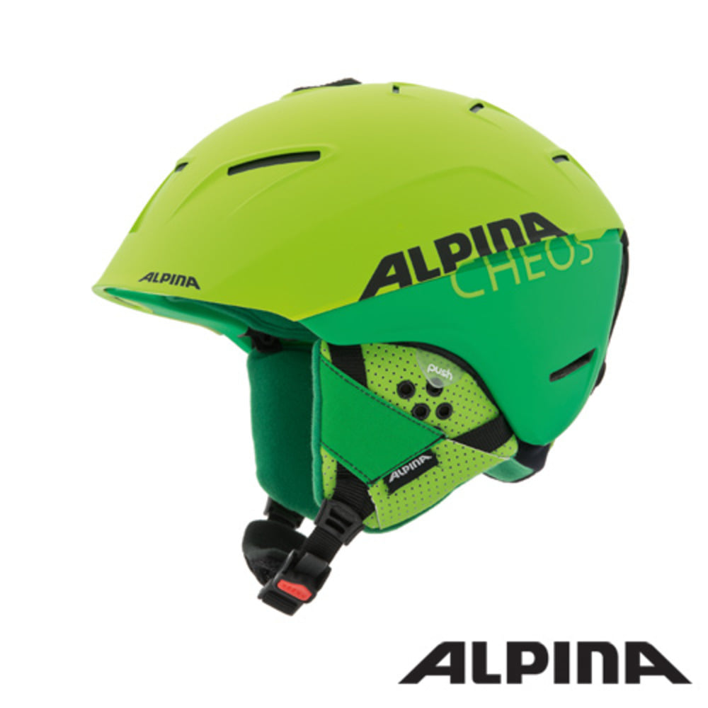 [ALPINA] 16/17 CHEOS two-green mat 알피나 스키 헬멧