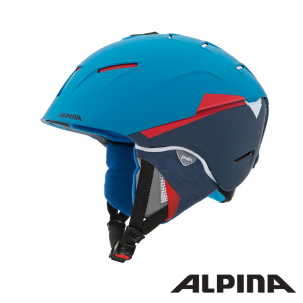[ALPINA] 16/17 CHEOS blue-red mat 알피나 스키 헬멧