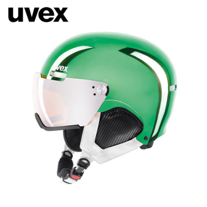 [UVEX] 17/18 uvex hlmt 500 visor chrome LTD green 우벡스 스키 바이져 헬멧