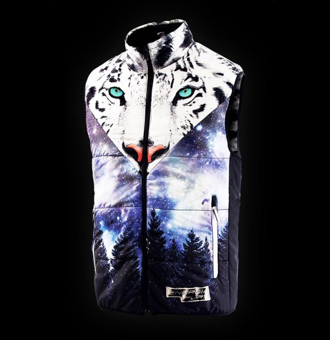 [ENERGIAPURA] VEST ANIMAL FACE UNISEX tiger  에너지아푸라 스키복