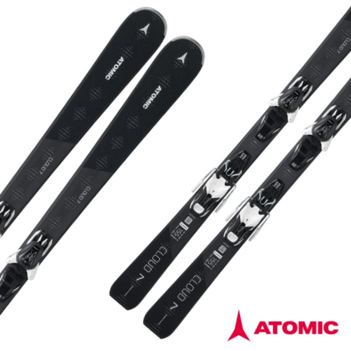 [ATOMIC] 18/19 CLOUD 7  BLACK + E LITHIUM 10 Black/White 아토믹 여자 여성 회전 스키