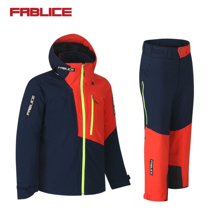 [FABLICE] 18/19 파블리스 Demo Jacket + Demo Pants Navy Orange
