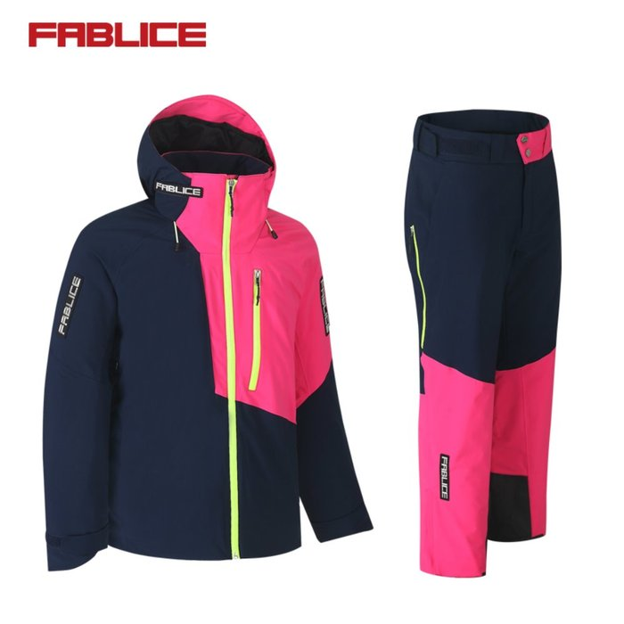 [FABLICE] 18/19 파블리스 Demo Jacket + Demo Pants Navy Pink