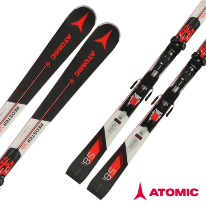 [ATOMIC] 18/19 REDSTER S8i Servotec + X 12 TL R OME Black/Red 아토믹 회전 스키