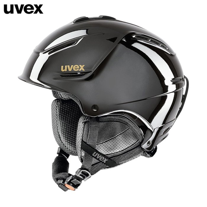 [UVEX] 18/19 uvex p1us pro chrome LTD black chrome 우벡스 스키 헬멧