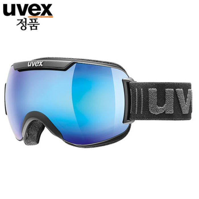 [UVEX] 18/19 uvex downhill 2000 FM - ASIAN FIT black mat - mirror blue 우벡스 스키 고글