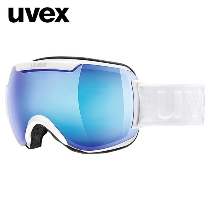 [UVEX] 18/19 uvex downhill 2000 FM ASIAN FIT white - mirror blue 우벡스 스키 고글