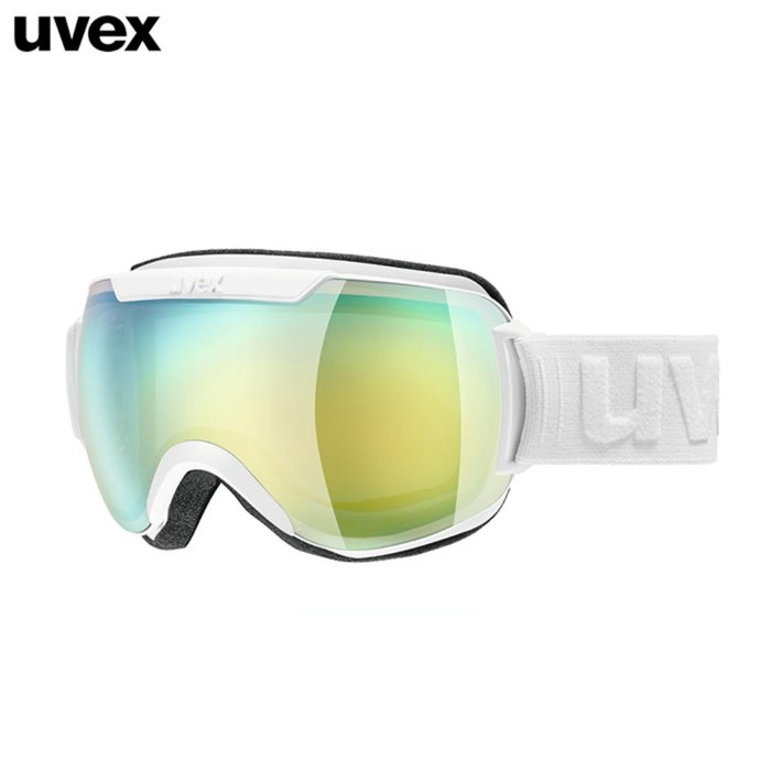 [UVEX] 18/19 uvex downhill 2000 FM - ASIAN FIT white - mirror gold blue 우벡스 스키 고글