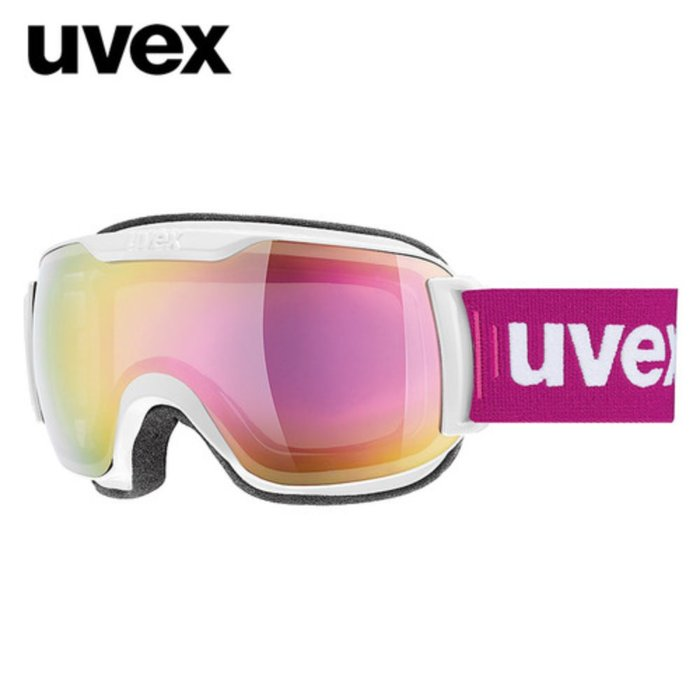 [UVEX] 18/19 uvex downhill 2000 FM - ASIAN FIT white - mirror pink 우벡스 스키 고글