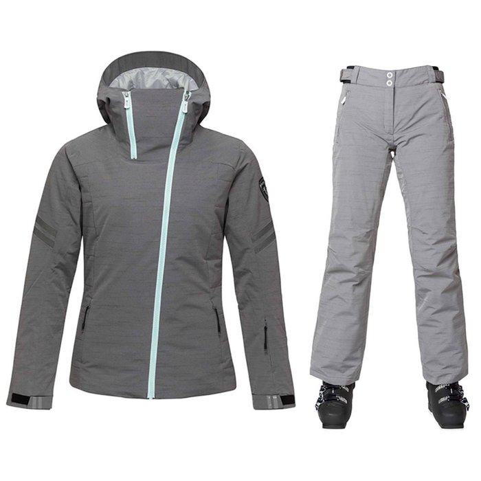 [ROSSIGNOL] 18/19 W FONCTION OXFORD JKT/HEATHER GREY + W SKI OXFORD PANT/HEATHER GREY 로시뇰 여성 스키복 (상하같은컬러입니다.)