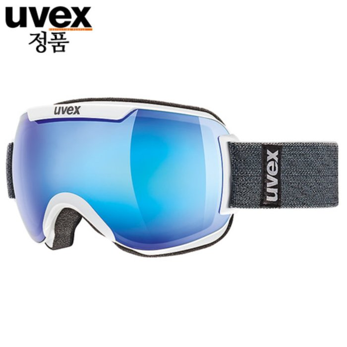 [UVEX] 18/19 uvex downhill 2000 FM - ASIAN FIT white - mirror blue 우벡스 스키 고글
