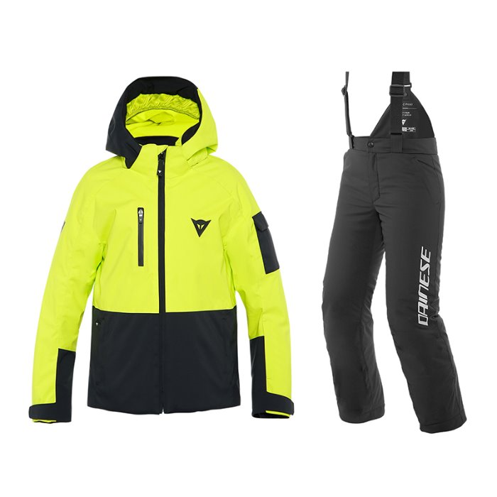 [DAINESE] 19/20 RIBBO HP JACKET+RIBBO PANTS/yellow 다이네즈 주니어 어린이 스키복