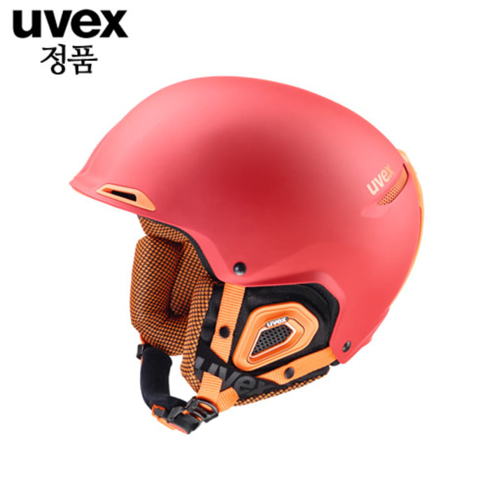 [UVEX] 15/16 uvex jakk+ red orange mat   우벡스 스키 헬멧
